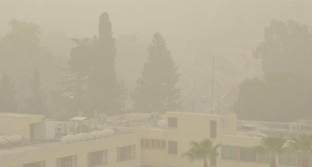 Песчаная буря на Кипре